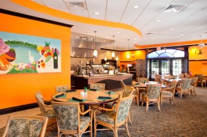 Our casual bistro features Wi-Fi, stunning lake views and outdoor dining options.