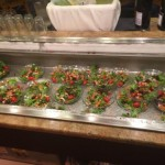 Very own salad bar, where we display our salad of the evening!