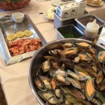 Mussels with a Creamy Bourbon Sauce.