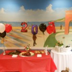 Chocolate covered strawberries, cheese & crackers and champagne!