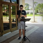 Saxophone entertainment provided by a talented Fountains staff member.