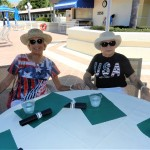 Residents showing of their Memorial Day attire.