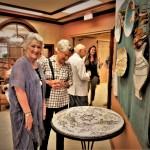 Residents enjoying the beautiful pieces.