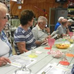 Residents waiting for the tasting to begin.