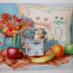 One of Lyn's many watercolor paintings.
