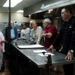 Chef Paul on the tour with residents.