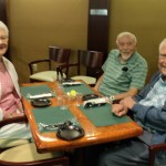 Residents preparing for their exquisite lunch in the Lounge.