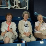 Dawn McDonald, Pauline Smith and Pam Moore enjoying the ballpark atmosphere.