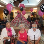 Residents in their Sock Hop attire.