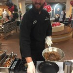Chef Bryan Allen making an appetizer dish for the event.