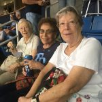 Pam Moore, Niecie Handelman and Betty Fonda enjoying the baseball game!