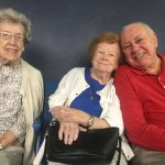 Pauline Smith, Dawn McDonald and Gerry Hubsmith cheering on the Rays together.